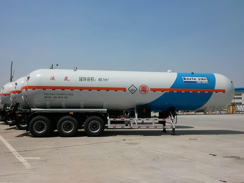 Chemical materials semi trailer
