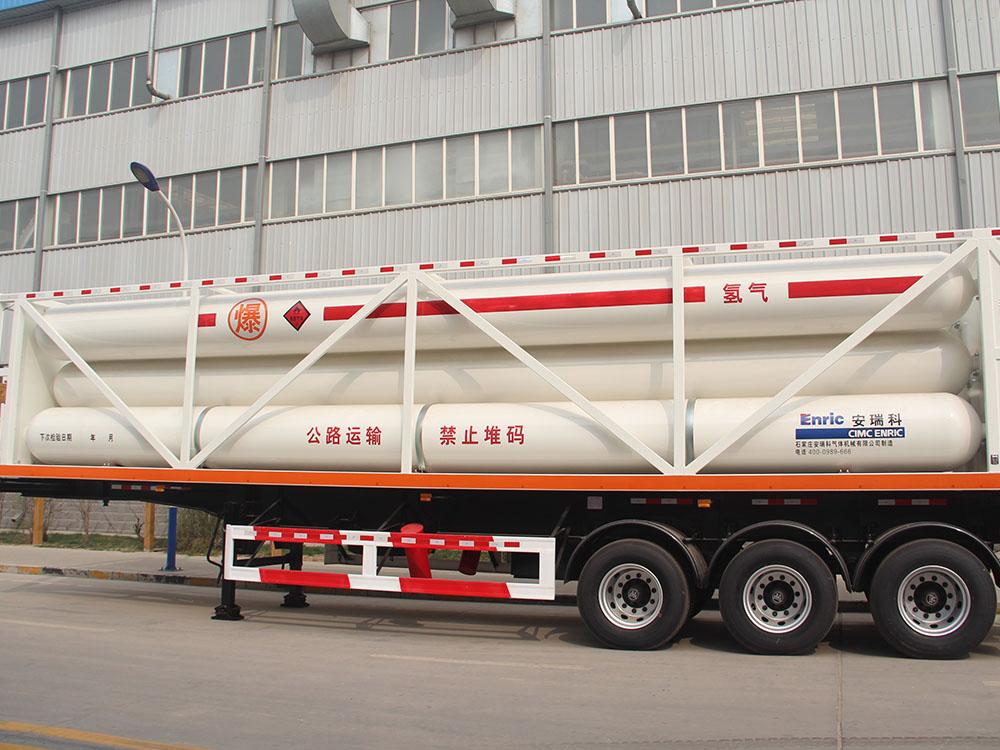 Industrial gas tube skid