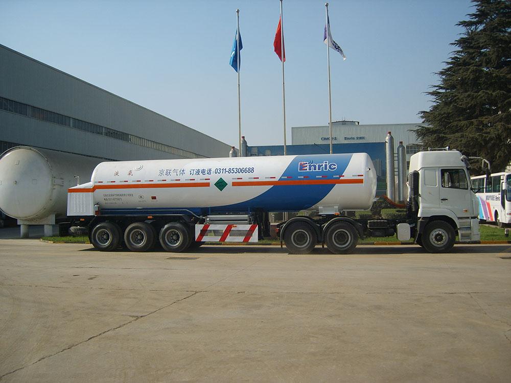 LO2/LN2/LAr Industrial Gas Semi-trailer